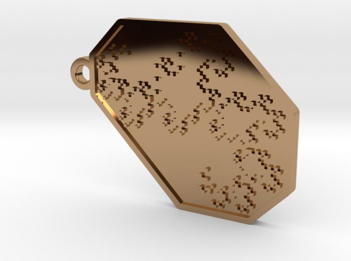 Dragon Curve Keychain/Pendant 3d printed