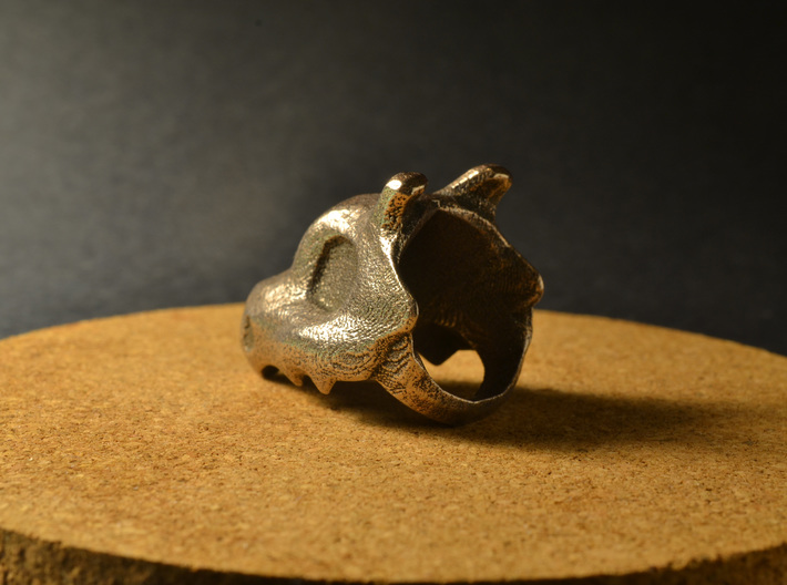 Cubone Ring 3d printed