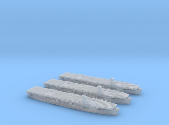 1/4800 US Commencement Bay class CVE (x3) 3d printed