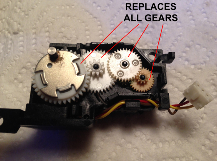 Gear set for vintage Mac 400/800k Floppy drives 3d printed Replacement set for all 4 gears