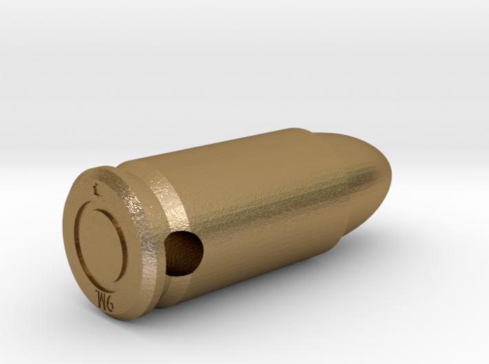 Smykke - 9mm. patron vedhæng 3d printed