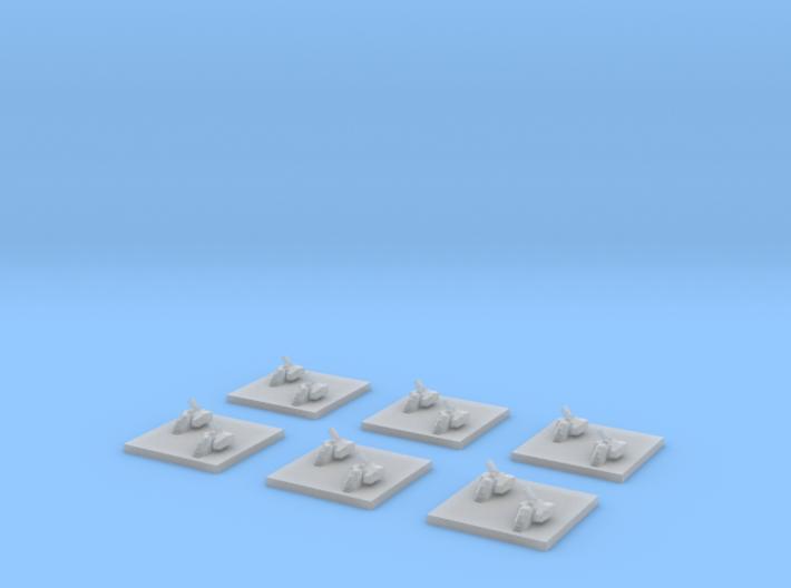 "Taiidan ""Woodan"" Minelayer Corvettes (6) 3d printed"