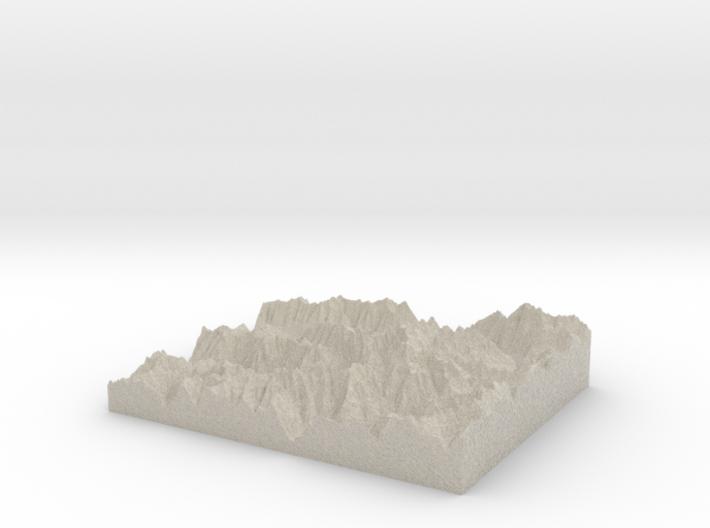 Model of White Glacier 3d printed