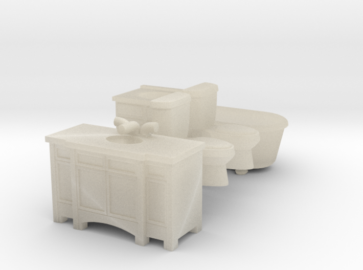 HO scale Bath Only 3d printed