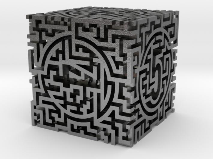 Labyrinthine d6 3d printed
