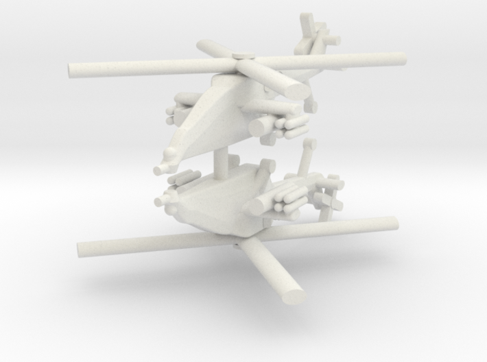 1/285 HAL Light Combat Helicopter (x2) 3d printed