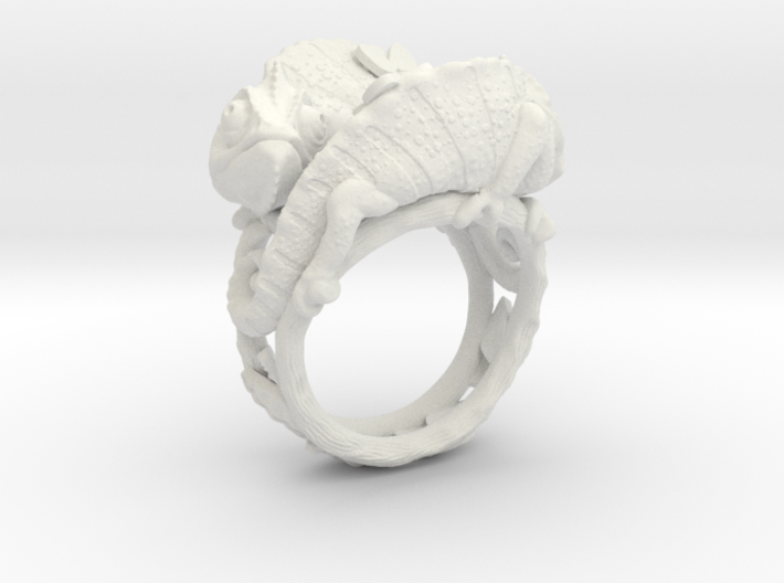Ring Chameleons 3d printed