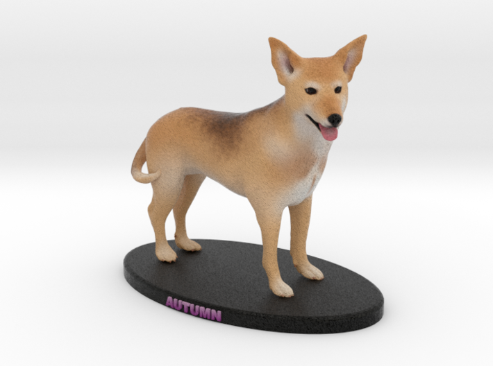 Custom Dog Figurine - Autumn 3d printed