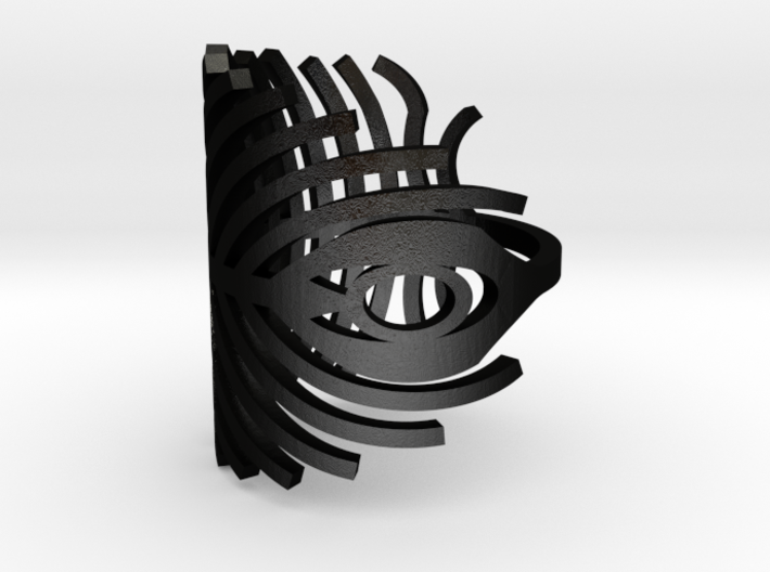 peacock ring size 7 3d printed