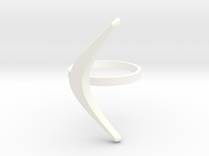 boomerang ring 3d printed