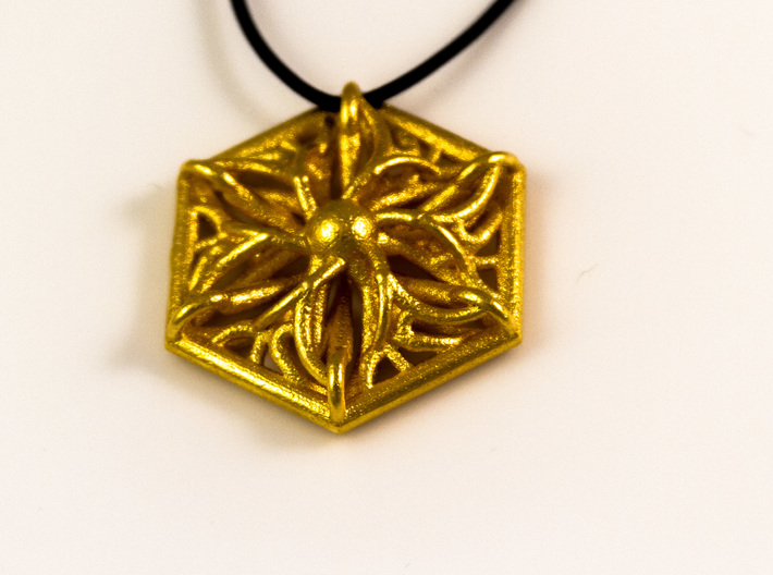 Hexagon Pendant 3d printed
