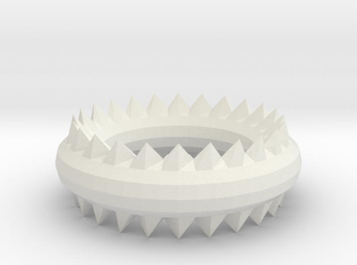 Ridged Ring 3d printed