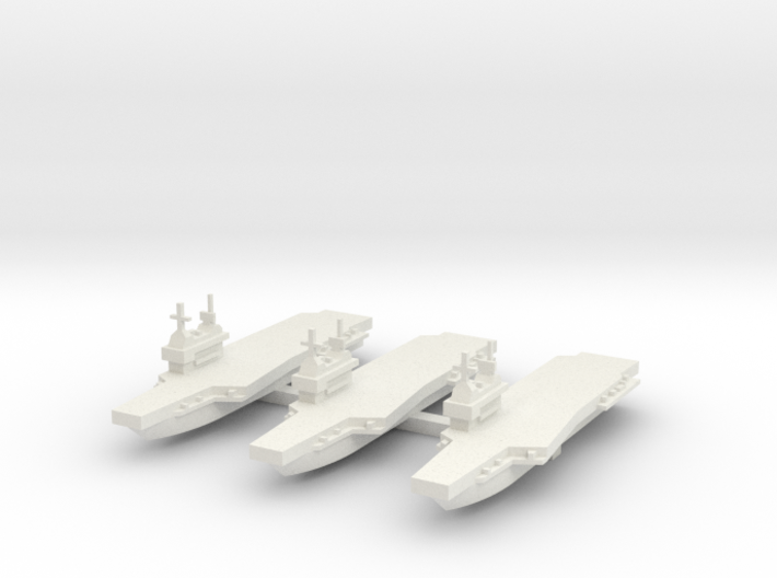 Generic aircraft carrier with angled deck x 3 3d printed