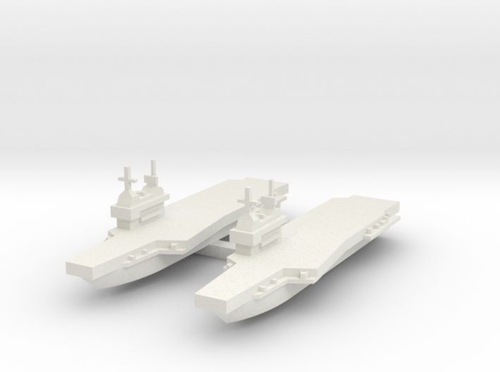 Generic aircraft carrier with angled wing X 2 3d printed