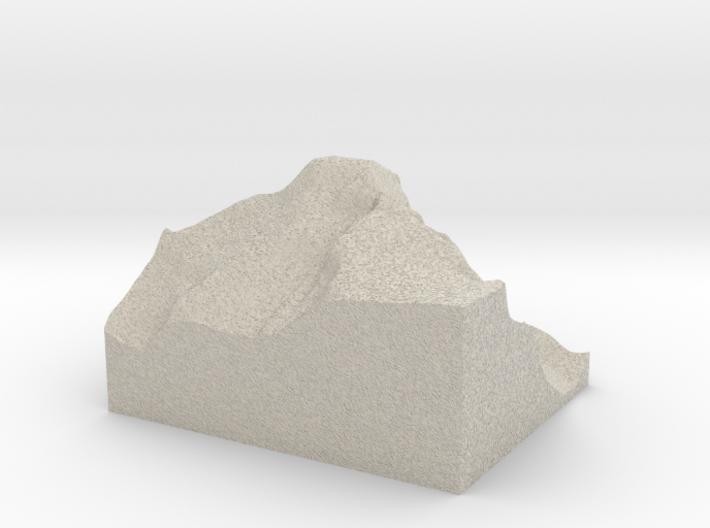 Model of Longs Peak 3d printed