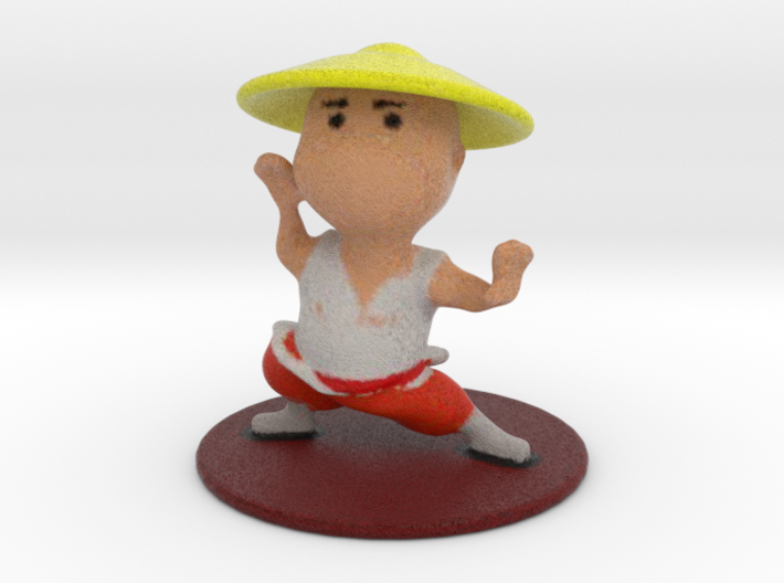 Shaolin Monk 3d printed