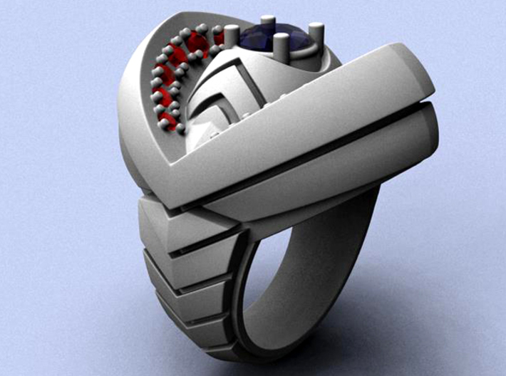Ring of India - Gems - Size 12 (21.49 mm)  3d printed