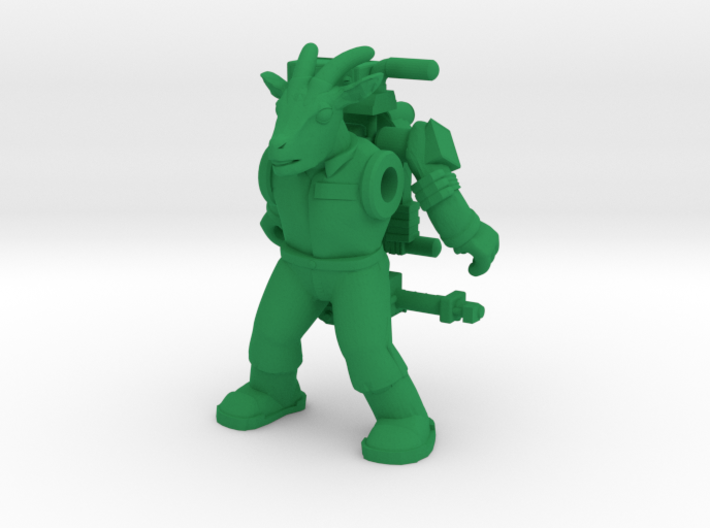 Winshorn Ghoatbuster Figure (Plastic) 3d printed