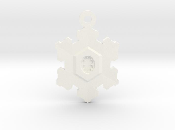 Snowflake Zipper Pull 3d printed