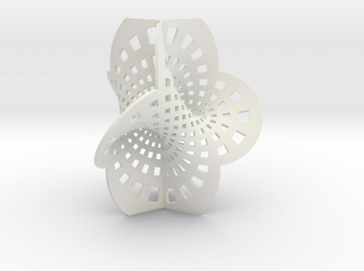 Trefoil spine (spine only) 3d printed