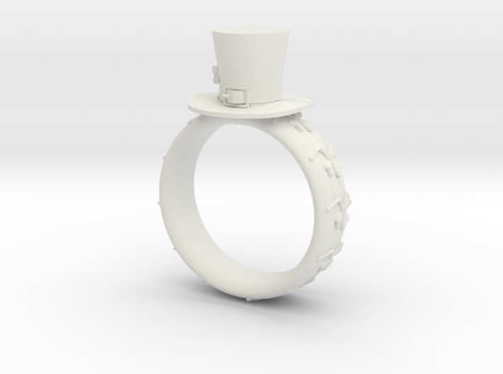 St Patrick's hat ring(size = USA 8) 3d printed