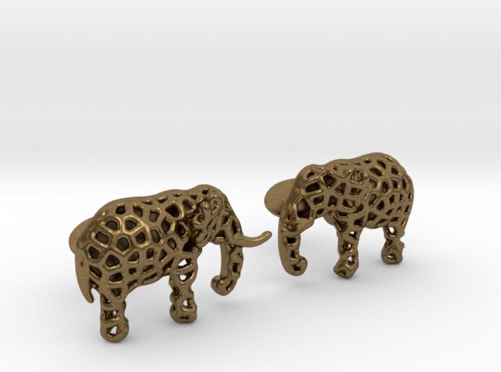 Elephant Cufflinks 3d printed