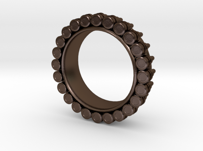 Bullet ring Ring(size = USA 3.5-4) 3d printed
