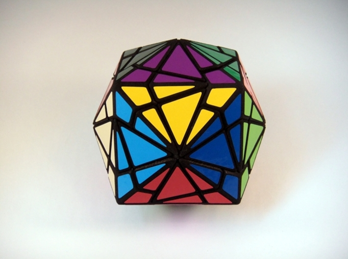 Fractured Cube Puzzle 3d printed Windmill Face