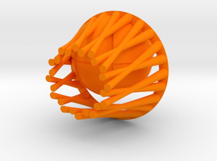 Basket pendant 3d printed