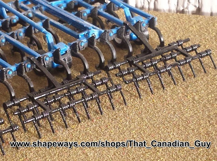 1/64 Harrows 4 Bar Set of 4 3d printed My 3 bar harrow shown mounted on an Ertl Cultivator
