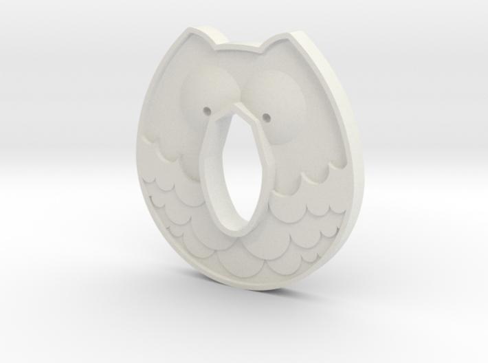 Cold Steel Wakazashi Tsuba - Owl 3d printed