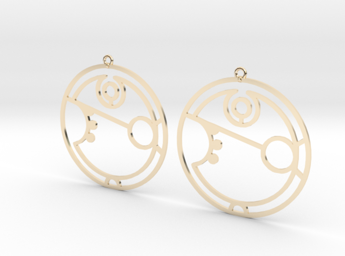 Amber - Earrings - Series 1 3d printed