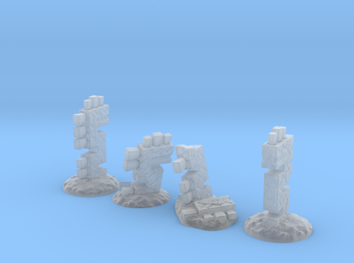 Serpent Columns (24mm high) 3d printed