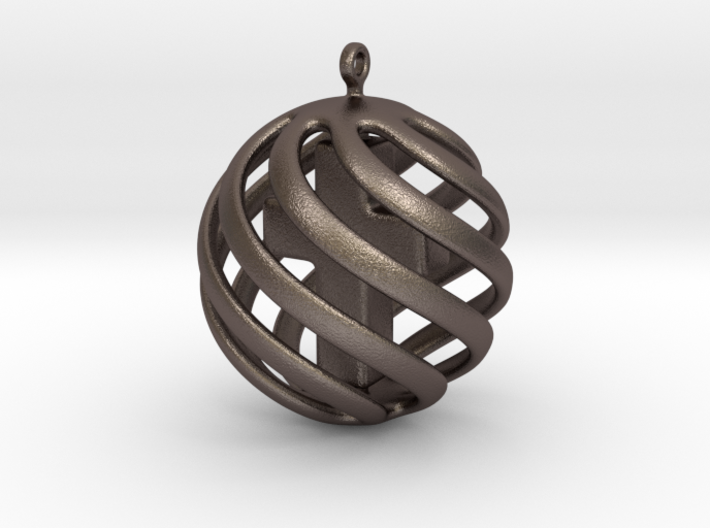 Cross sphere pendant 3d printed