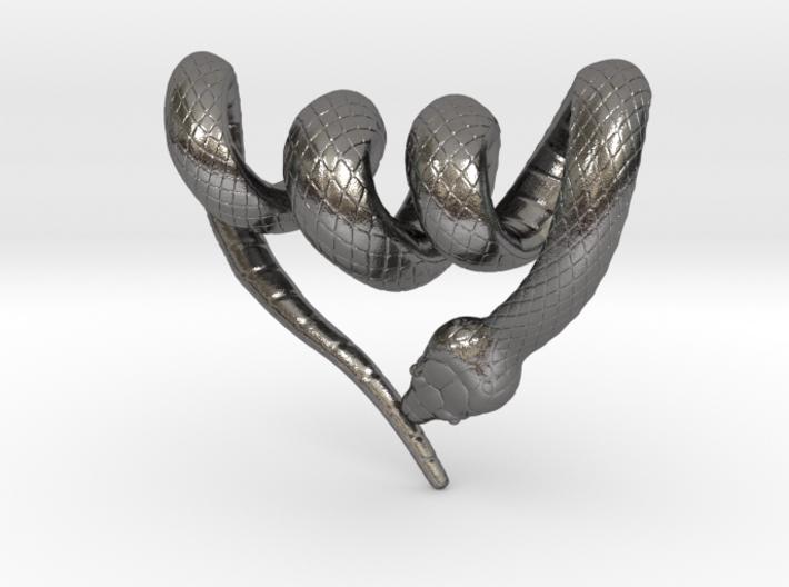 Snake Pendant 3d printed