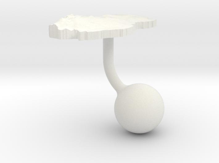 Qatar Terrain Cufflink - Ball 3d printed