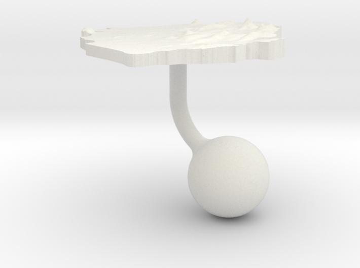 Sierra Leone Terrain Cufflink - Ball 3d printed