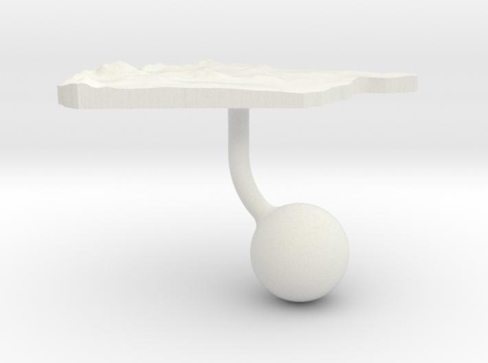 Syria Terrain Cufflink - Ball 3d printed
