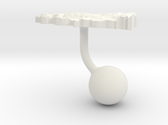 Turkey Terrain Cufflink - Ball 3d printed