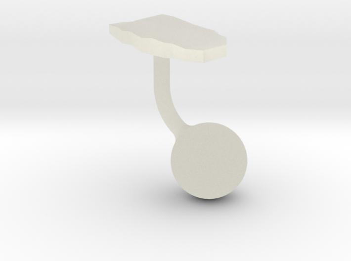 Aruba Terrain Cufflink - Ball 3d printed