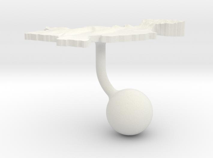 Pakistan Terrain Cufflink - Ball 3d printed