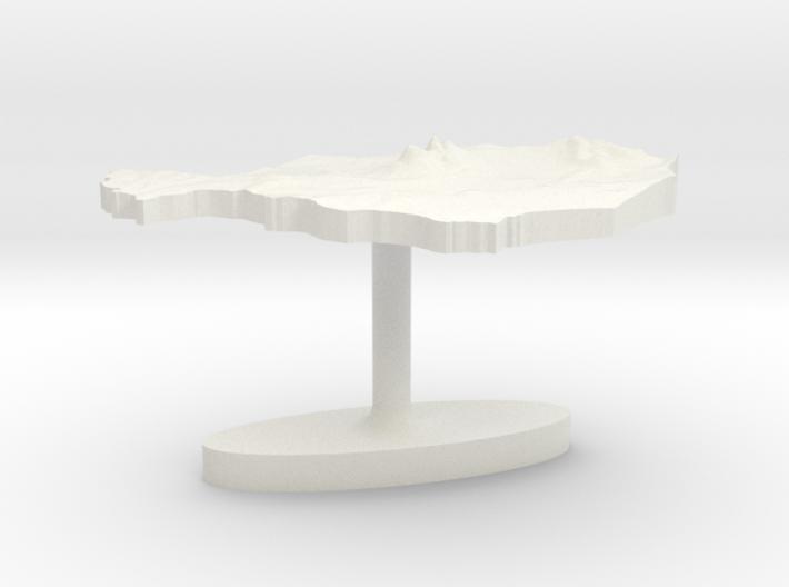 Niger Terrain Cufflink - Flat 3d printed