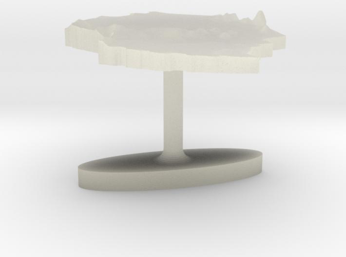 Tanzania Terrain Cufflink - Flat 3d printed