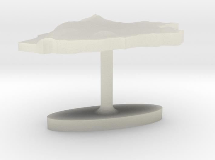 Burundi Terrain Cufflink - Flat 3d printed
