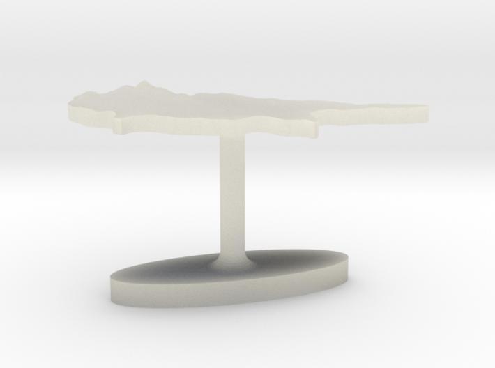 Cyprus Terrain Cufflink - Flat 3d printed