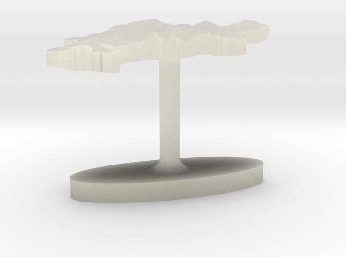 Denmark Terrain Cufflink - Flat 3d printed