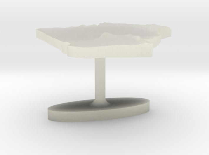 Algeria Terrain Cufflink - Flat 3d printed