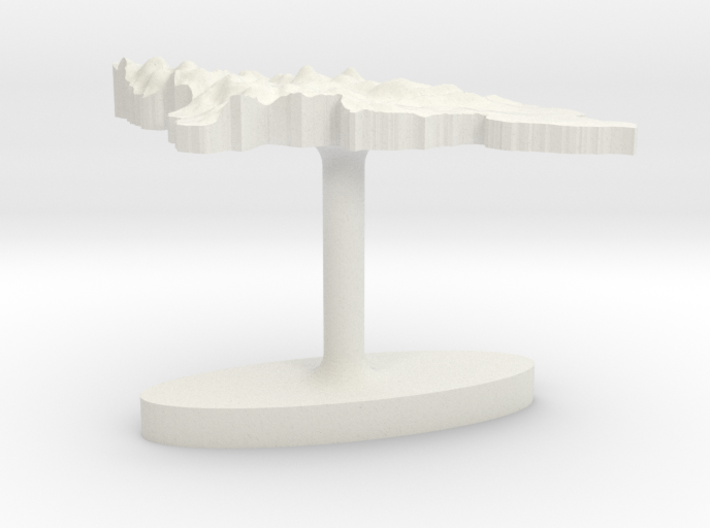 Honduras Terrain Cufflink - Flat 3d printed