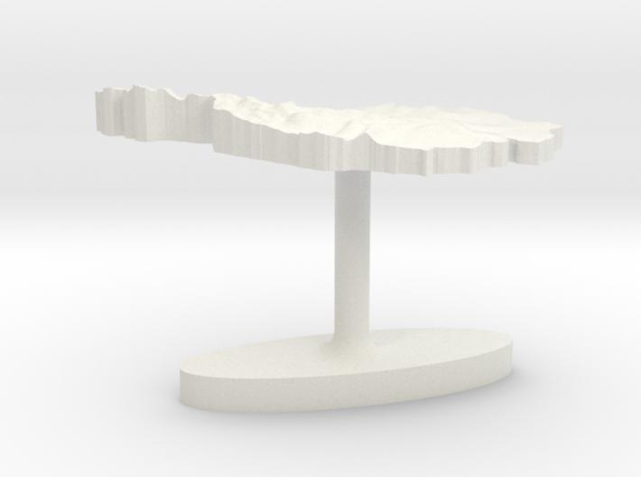 Austria Terrain Cufflink - Flat 3d printed