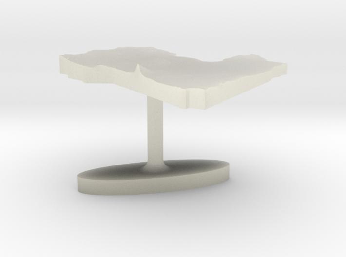 Libya Terrain Cufflink - Flat 3d printed